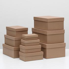 "Набор коробок 10 в 1 ""Крафт однотонный"", 32 х 19,5 х 12,5 - 11,5 х 6,5 х 4 см"