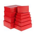 """Набор коробок 10в1 """"Красный"""", 36,5 х 26,5 х 12 - 23 х 13 х 3 см"""