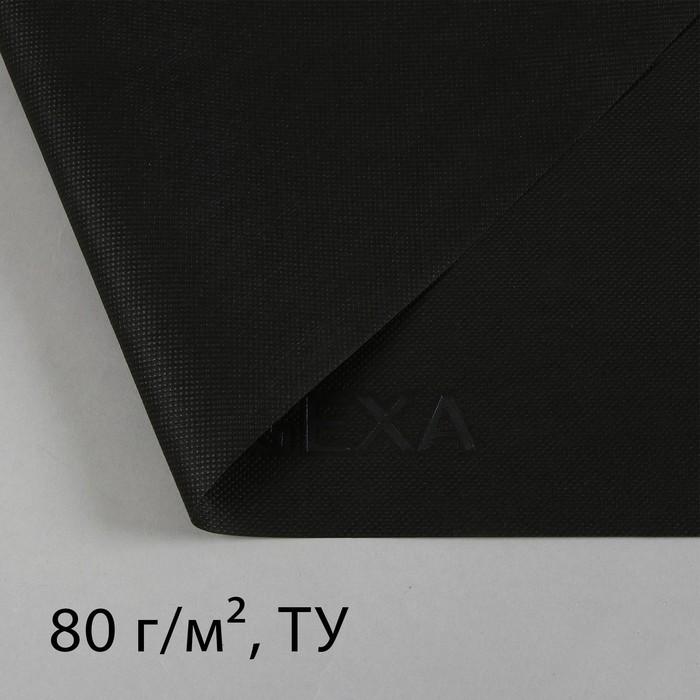 Материал мульчирующий, 10 × 1,6 м, плотность 80, с УФ-стабилизатором, чёрный, «Агротекс»