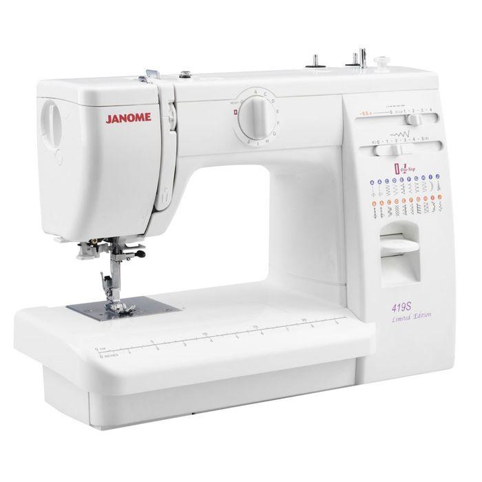 Швейная машина Janome 419S, 19 операций, обметочная, потайная, эластичная строчка