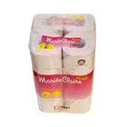 """Туалетная бумага двухслойная """"MARIEE CLAIRE"""", розовая с принтом, 27.5 м, IDESHIGYO 12 рулонов   2077"""