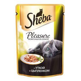 Влажный корм Sheba Naturelle для кошек, курица/утка, пауч, 80 г