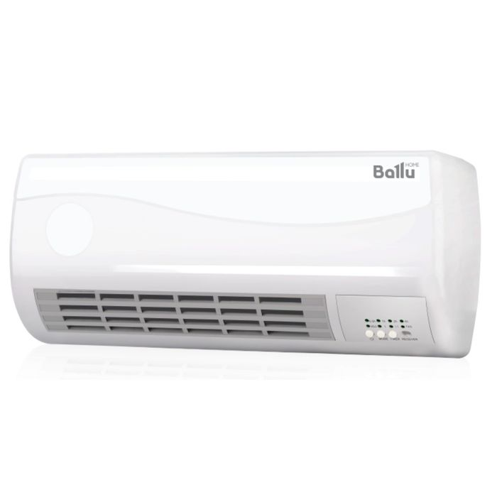 Тепловентилятор Ballu BFH/W-102W, 2000 Вт, 25 кв.м., таймер,  настенный
