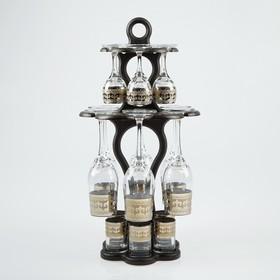 """Мини-бар 18 предметов """"Изящный"""" шампанское, византия, темный 200/55/50 мл"""