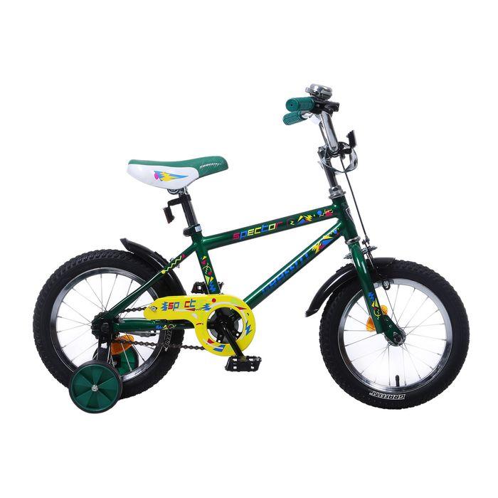"""Велосипед 14"""" GRAFFITI Spector, 2017, цвет зелёный"""