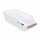 Корзина для хранения, 30×14 см × 9 см, цвет белый - фото 308327060