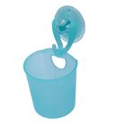 Стакан для ванной комнаты на присоске, цвет голубой