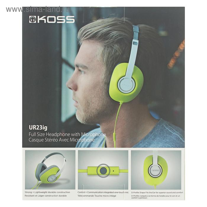 гарнитура Koss Ur23ig зелёная 2107236 купить по цене от 99900