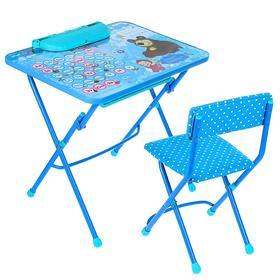 Набор мебели «Азбука 4. Маша и Медведь», пенал, мягкий стул, 3 – 7 лет