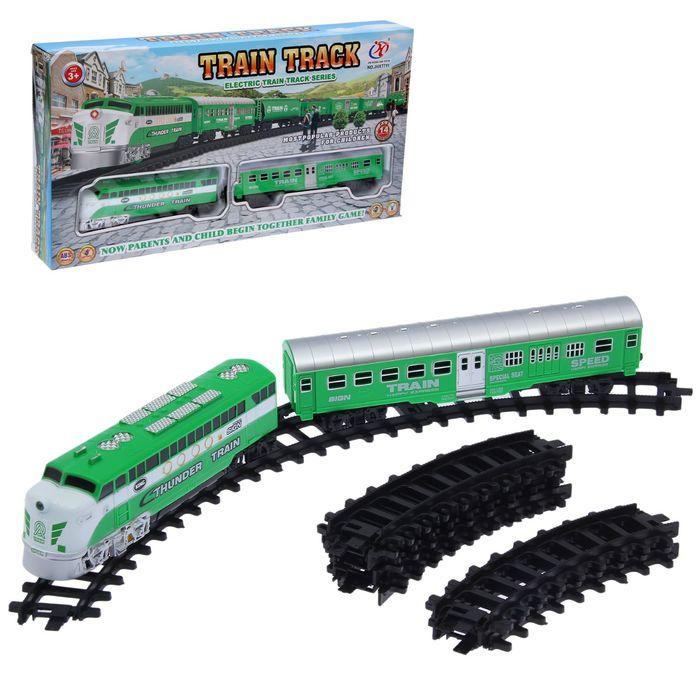 """Железная дорога """"Товарный поезд"""" со светозвуковыми эффектами, протяжённость пути 1,98 м"""