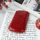 Чехол Time для телефона, с ремешком, размер 2, крокодил, цвет красный