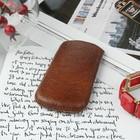 Чехол Time для телефона, с ремешком, размер 3, цвет коричневый