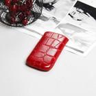 Чехол Time для телефона, с ремешком, размер 3, цвет красный