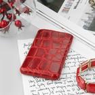 Чехол Time для телефона, с ремешком, размер 8, 60x119x14 мм, крокодил, цвет красный