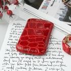 Чехол Time для телефона, с ремешком, размер 21, 54x108x12 мм , крокодил, цвет красный