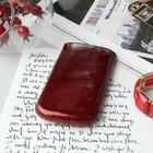 Чехол Time для телефона, с ремешком, размер 25, цвет рубиновый