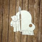 """Чипборд картон """"Палитра с медведем"""" толщ.0,9-1,15 мм, 11х9,5 см, с гравир."""