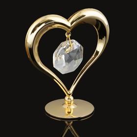 Сувенир «Сердце», на подставке, с кристаллом Сваровски, 6 см в Донецке