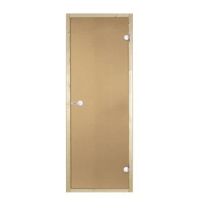 """Дверь для бани и сауны """"NARVIA"""", бронза, 190х70см 2106137"""