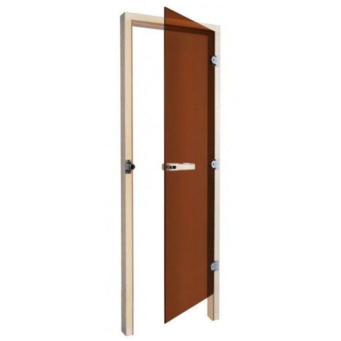 """Дверь для бани и сауны """"SAWO"""", бронза без порога, 190х70см 2106143"""