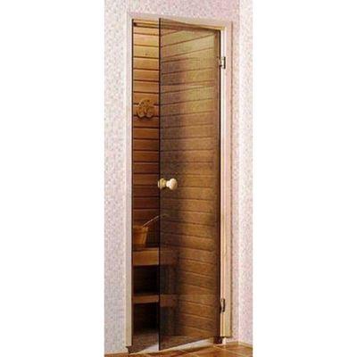 """Дверь для бани и сауны """"EESTI SAUNA"""", бронза, матовая, 190х70см"""