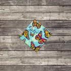 "Mini–card ""Butterfly"" 7 x 7 cm"