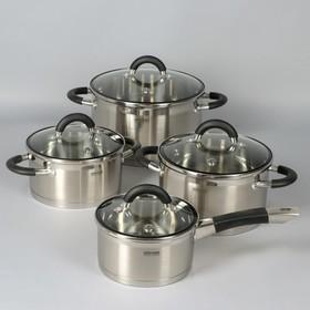 Набор посуды Olina, 4 шт: кастрюли 2,1 л, 3,2 л, 6 л, ковш 1,5 л