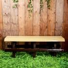 Скамья садовая без спинки, 120 × 40 × 42 см, двухместная, бежево-коричневая