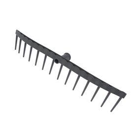 Грабли прямые, прямой зубец, 14 зубцов, пластиковые, тулейка 28 мм, без черенка Ош