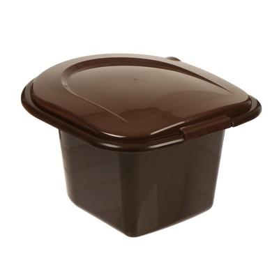 Ведро-туалет, 11 л, коричневый