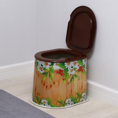 Туалет дачный, h = 39 см, без дна, с креплением к полу, «Летний день»