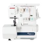 Оверлок Janome ML205D, 3, 4- ниточный шов, 1300 стежков/мин, белый