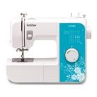 Швейная машина Brother LX-3500, 17 операций, потайная, эластичная строчка, белый