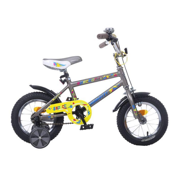 "Велосипед 12"" GRAFFITI Spector, 2017, цвет серый"