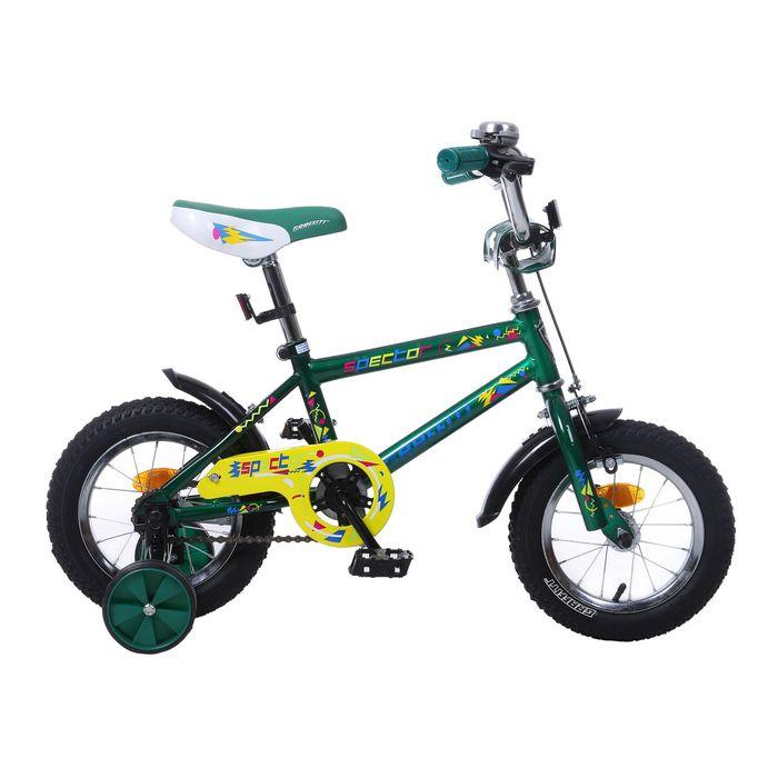 """Велосипед 12"""" GRAFFITI Spector, 2017, цвет зелёный"""