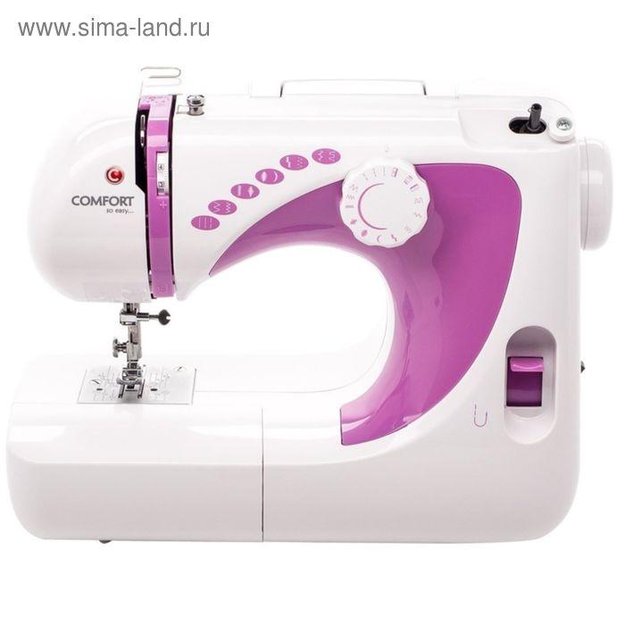 Швейная машина Comfort 250, эластичная строчка, полуавтомат обработка петли, белый/розовый
