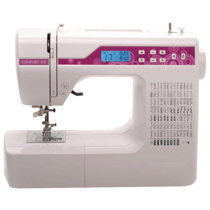 Швейная машина Comfort 80, 100 операций, обметочная, потайная, эластичная строчка