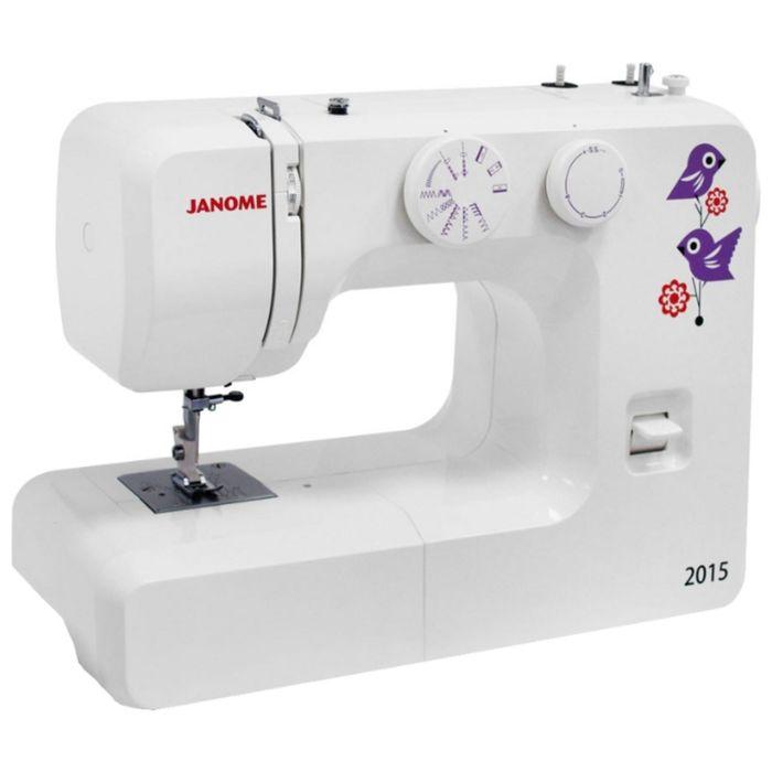 Швейная машина Janome 2015, 15 операций, обметочная, потайная, эластичная строчка, белый