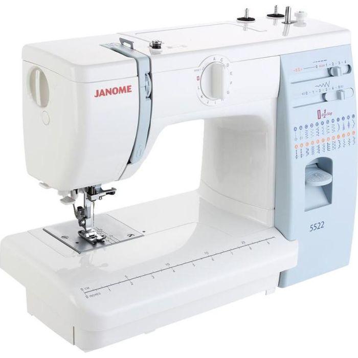 Швейная машина Janome 5522, 23 операции, обметочная, потайная, эластичная строчка, белый