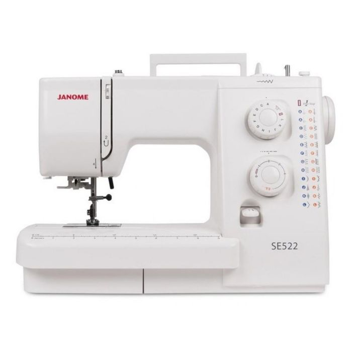 Швейная машина Janome SE522, 25 операций, обметочная, потайная, эластичная строчка, белый