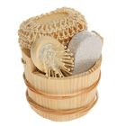 Набор банный, 3 предмета: расчёска, пемза, мочалка
