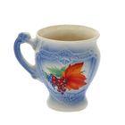 Чашка 0,3 л, синий, деколь, микс
