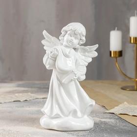 """Статуэтка """"Ангел писарь"""" белый, 23 см"""