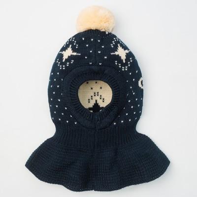 """Шапка для мальчика """"Шлем Галактика"""", размер 44-46 (12-18 мес.), цвет тёмно-синий 8232-24с_М   202559"""