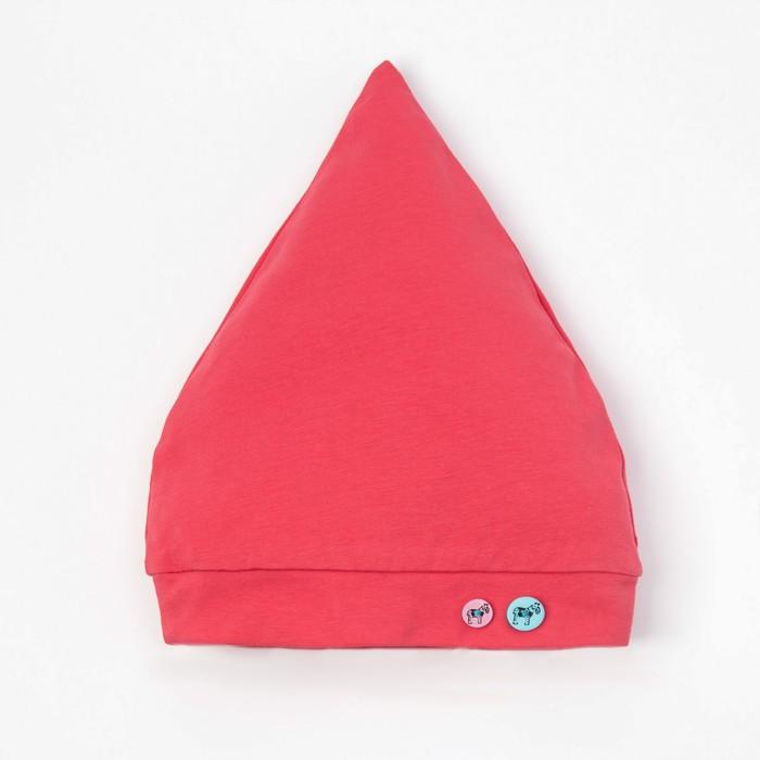Шапочка для девочки, рост 68 см, цвет коралловый G 03.70.07 _М