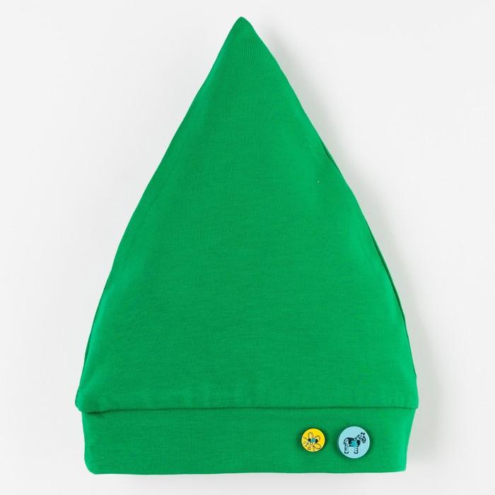 Шапочка для мальчика, рост 68 см, цвет зелёный B 03.70.02 _М