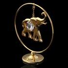 Сувенир «Слон в кольце», 3×7×8 см, с кристаллом Сваровски