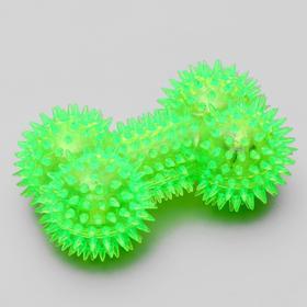 """Игрушка для собак """"Светящаяся кость"""", 10,5 см, микс цветов"""