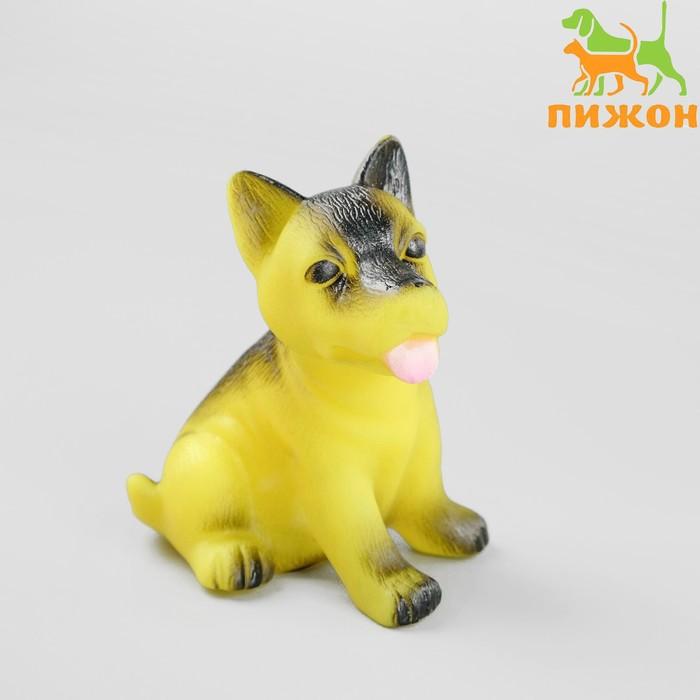 """Игрушка пищащая """"Маленький друг"""" для собак, овчарка, 9 см, микс цветов"""
