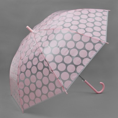 "Umbrella semi-automatic ""Circles"", 8 spokes, R = 57 cm, colour pink"
